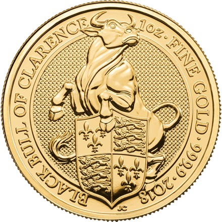 Gold The Black Bull 1 oz - The Queen´s Beasts 2018