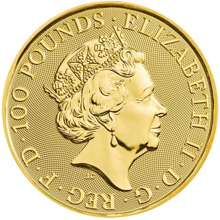 Gold Falcon of the Plantagenets 1 oz - The Queen´s Beasts 2019