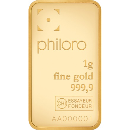 Goldbarren 1g - philoro