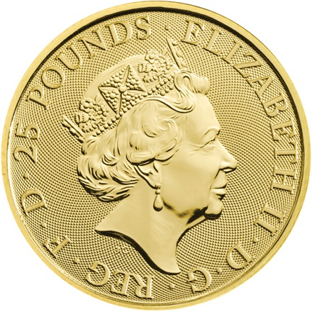Gold The White Greyhound of Richmond 1 oz - The Queen's Beasts 2021